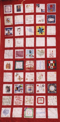 Photo of Childhood Cancer Lifeline Quilt