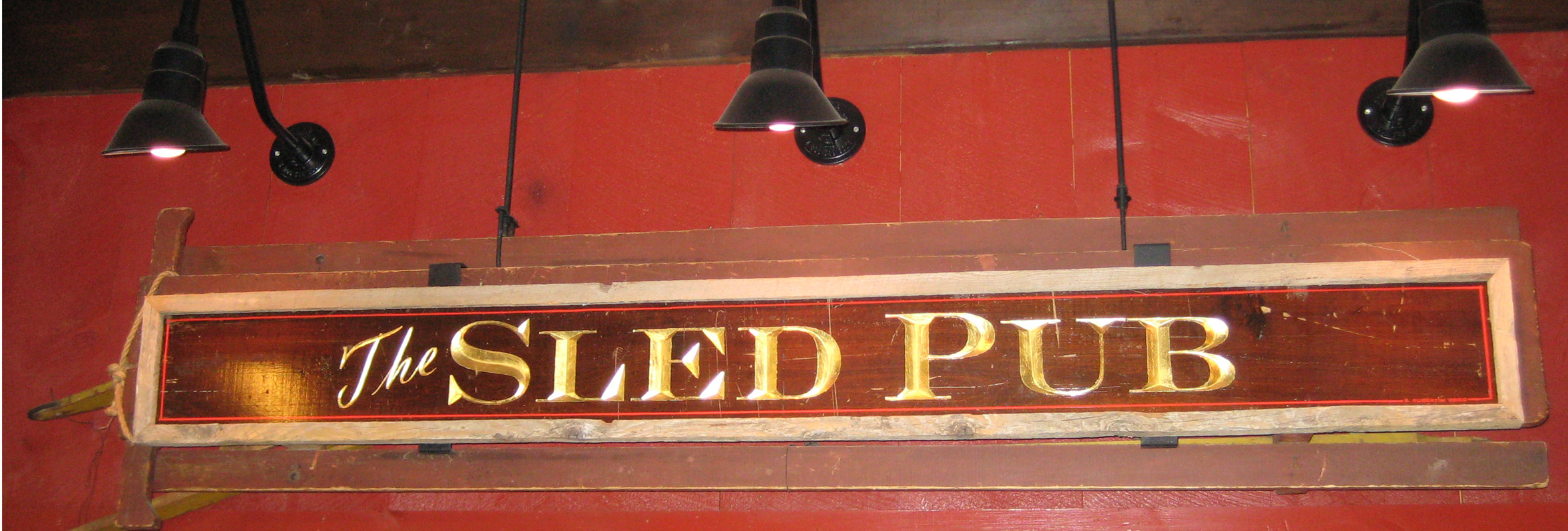 Photo of Sled Pub Sign