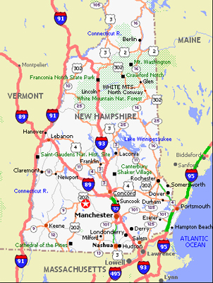 List of Synonyms and Antonyms of the Word new hampshire road map